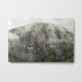 rocks and stones, a misty morning in Norway  | nature photo | fine art photo print | travel photo Metal Print