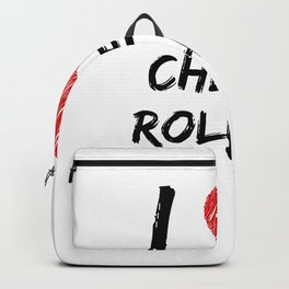 I Love Cheese Rolling Backpack