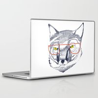 mr fox Laptop & iPad Skins featuring Mr Fox by Ashley Percival illustration