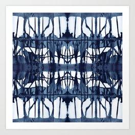 Indigo Paper Shibori Art Print