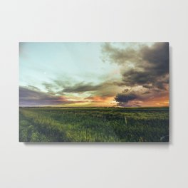 plains under the moon Metal Print