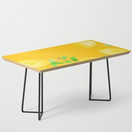 Lemons on Mustard Yellow Coffee Table