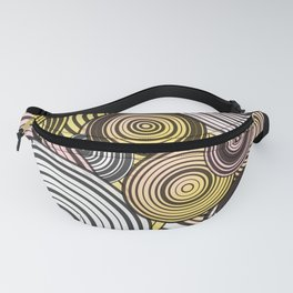 Layered circles Fanny Pack