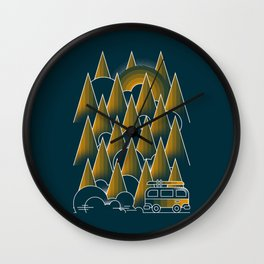 Montain van Wall Clock