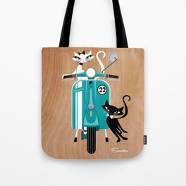 Scooter-a-go-go-Cats Tote Bag