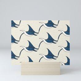 Manta rays Mini Art Print