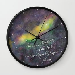 Merely a whisper Wall Clock