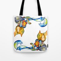 bow Tote Bags featuring bow by cynamon