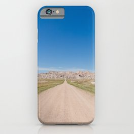 Backroads at the Badlands - Travel Photography iPhone Case