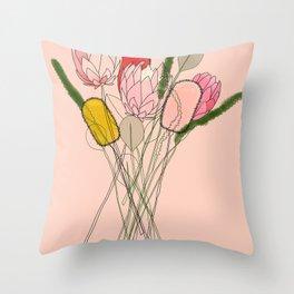 Banksia Party Throw Pillow