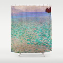 Klimt - Lake Attersea (new editing) Shower Curtain