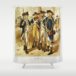 Infantry: Continental Army 1779-1783 by H.A. Ogden (1879) Shower Curtain