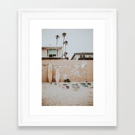 lets surf viii / san diego, california Framed Art Print