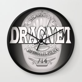 Dragnet - LA Police badge Wall Clock