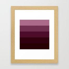 Burgundy Stripes Thick Framed Art Print