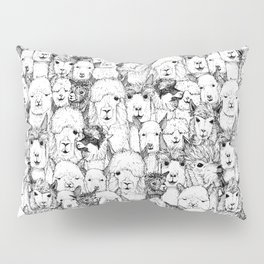 just alpacas black white Pillow Sham
