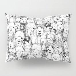 just alpacas black white Pillow Sham