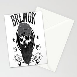 BREWOK BIKER Stationery Cards