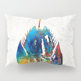 Colorful Horseshoe Crab Art by Sharon Cummings Pillow Sham