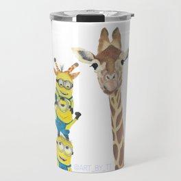 Giraffe Minion Travel Mug