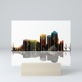 Tucson Skyline BW1 Mini Art Print