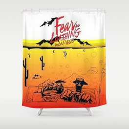 Fear And Loathing In Las Vegas Desert Shower Curtain