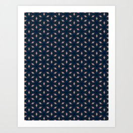 V29 Moroccan Traditional Carpet and Rug Design. Art Print