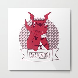 Takatomon Metal Print