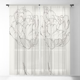 Diamond Tulip Sheer Curtain