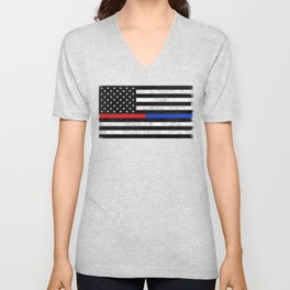 Fire Police Flag Unisex V-Neck