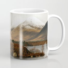 Lone Tree and Dusting of Snow in Mountains of Scotland Coffee Mug