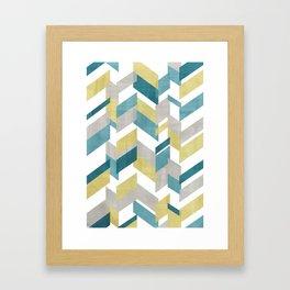 Bright geometrical pattern Framed Art Print
