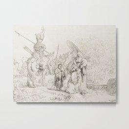 The Baptism of the Eunuch Metal Print