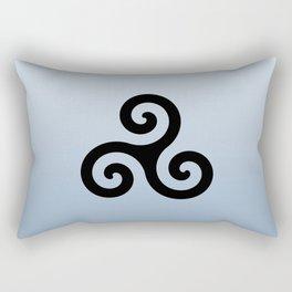 Triskele 6 -triskelion,triquètre,triscèle,spiral,celtic,Trisquelión,rotational Rectangular Pillow