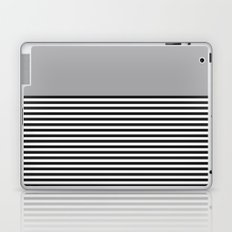 STRIPE COLORBLOCK {GRAY} Laptop & iPad Skin