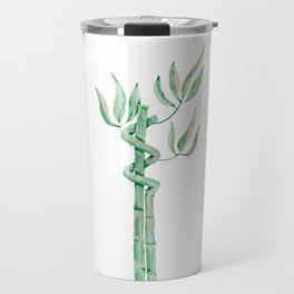 Green bamboo watercolor Travel Mug