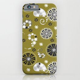 moss green paisley iPhone Case