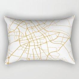 WARSAW POLAND CITY STREET MAP ART Rectangular Pillow