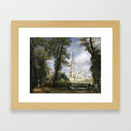 John Constable Salisbury Cathedral from the Bishop's Garden Framed Art Print