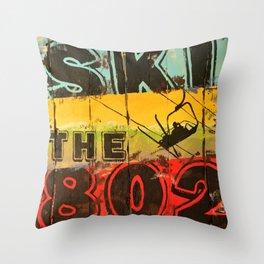 Ski the 802 Throw Pillow
