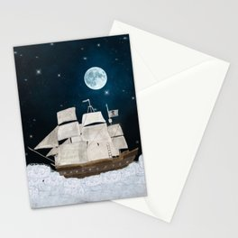 the pirate ghost ship Stationery Cards