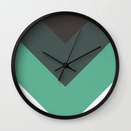 Sage Chevron Stripes Wall Clock
