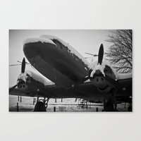 soviet Canvas Prints featuring Soviet Bomber by Daniel Fornies