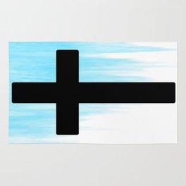 Ombre - Blue - Cross Rug