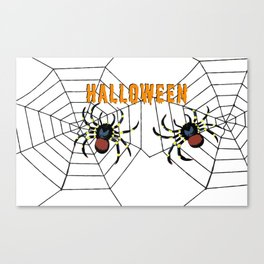Halloween two big Spider Canvas Print