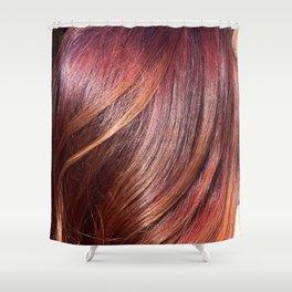 hair sunset Shower Curtain