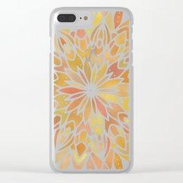 Mandala Desert Copper Gold Clear iPhone Case
