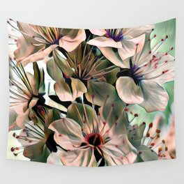 Wonderful silky Flowers C Wall Tapestry