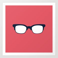 Sun Glasses on Red Art Print