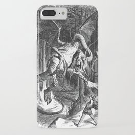 Jabberwocky Illustration from Alice in Wonderland iPhone Case
